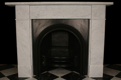 Fireplace Surround Victorian Plain in High Quality White Carrara Marble