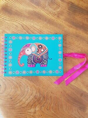 Paperchase Indian Elephant Acid Free Pages mini Scrapbook / notebook