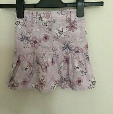 NEXT GIRLS FLARED LINEN MIX SKIRT TO FIT AGE 2-3 years IN PINK MIX