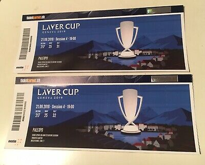 2 x Tickets Laver Cup Genf, Samstag, 21.09.2019, Night Session.
