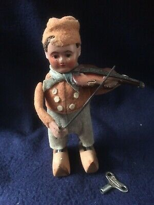 """Vintage *Rare* Schuco - dance figure """"Dutch boy with wooden shoes with violin"""""""
