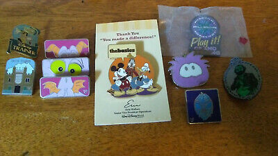 Lot of 10 Disney Pins for Pin Trading - Figment, Jiminy Cricket, Haunted Mansion