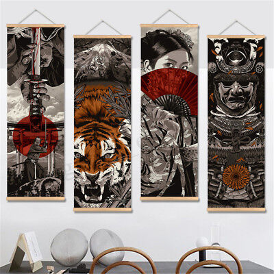 20x60cm HD Ukiyoe Canvas Painting Wall Art Poster Hanging Picture Home Decor New
