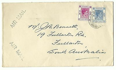 China Hong Kong airmail cover KGVI to Australia 1948