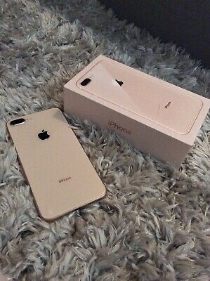 Apple iPhone 8 Plus - 64GB - Gold (Unlocked) A1897 (GSM) Phone And Box ONLY