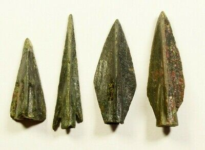 PERFECT - SUPERB LOT OF 4 Ancient Greek Scythian Arrow Heads Bronze 5th c BC