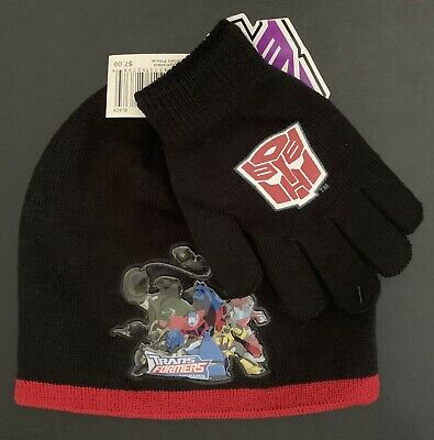 Transformers ~ Cold Weather Set ~ Beanie ~ Gloves ~ NWT