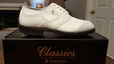 VINTAGE FOOTJOY CLASSICS ORIGINAL MENS GOLF SHOES 51409 NEW 11EE Made in USA