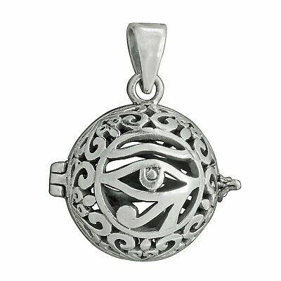 PENDANT Ball Egyptian Eye of Horus Ra Udjat Amulet 925 Sterling Silver -BELDIAMO