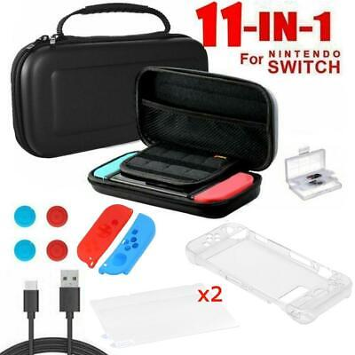 for Nintendo Switch Case Bag+Shell Cover+Charging Cable+Protector New