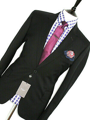 Bnwt Gorgeous Mens Paul Smith Soho London Black Slim Fit Suit 44R W38