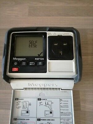 Megger PAT120 Hand Held Battery Operated Portable Appliance Pat Tester
