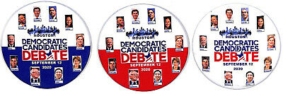 2010 Democratic Debate With all Candidates--Set of 3 different political buttons
