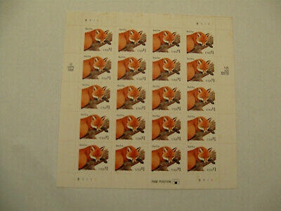 U.S.A Stamp Sheet of Red Fox 1998
