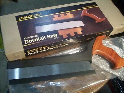 VERITAS fine tooth Dovetail Saw 20 tpi RIP, unused in box... high quality, nice