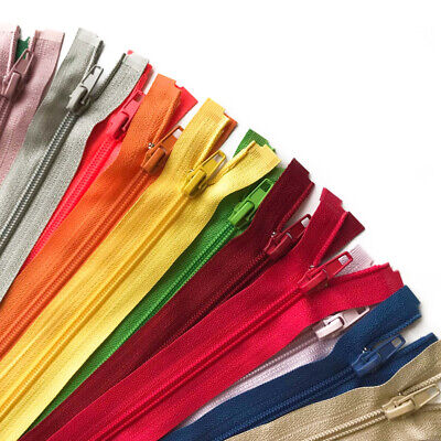 Nylon Spiral Open Ended No 5 Zips Zippers - 22 Zip Colours Available
