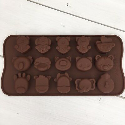 Silicone Chocolate Mould, Animals, LOVE, great for Valentine's Day.