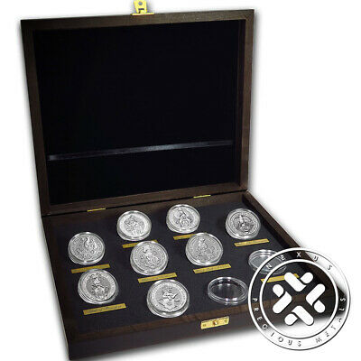 Collector Set-Queen`s Beasts Silver 8 Coins United Kingdom With Presentation Box
