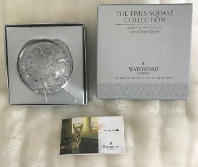 Vintage Waterford Crystal Paperweight Star Of Hope From Time Square Collection