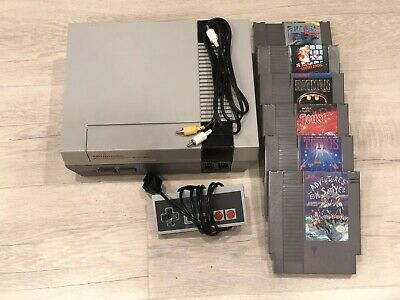 Nintendo Entertainment System NES Refurbished Console Bundle With 6 Games