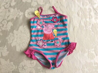 Ladybird Peppa Pig Girls Swimsuit Swimming Costume Size 5-6 years Great used con