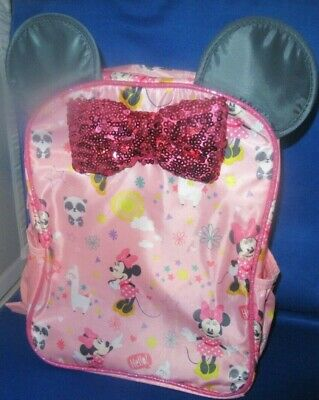 Disney Minnie Mouse Backpack (Bag Tote)  Age 3-6 Disney Store Authentic, New