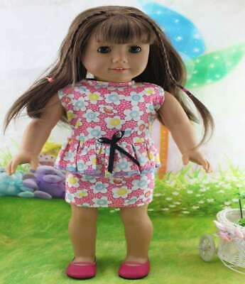 Doll Clothes Dress Accessories Top For 18' Fashion Toy Girl Outfit Handmade Pink