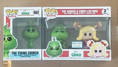 Lot x 2 Funko Pop! THE GRINCH & CINDY LOU - 2 Pack Barnes & Noble young grinch