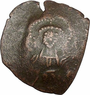 Authentic Ancient Medieval Byzantine Trachy Coin circa 1100-1300 AD i38897