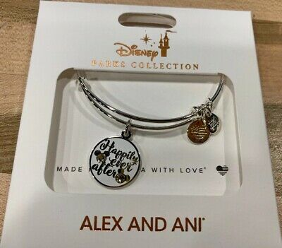 NEW Disney Parks ALEX AND ANI Happily Ever After Mickey Ears SILVER Bracelet
