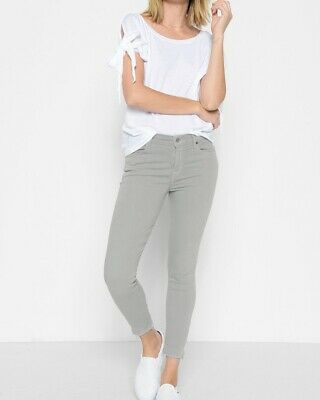 NWT 7 For All Mankind The Ankle Skinny Jeans in Agave Size 25