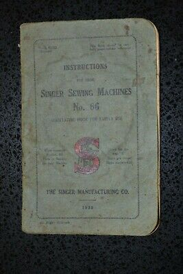 Manual Dated 1930 for the Antique/Vintage Singer Sowing Machine