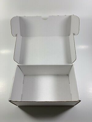 50 -  6x4x3 White Corrugated Shipping Mailer Packing Box Boxes (LOT OF 50 BOXES)