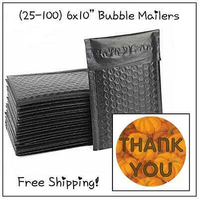 25-400 Pack - Black Designer Bubble Mailers! **FREE SHIPPING!**