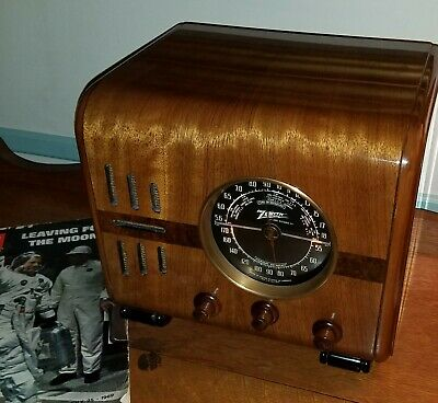 1938 Zenith 5 S 218 Tube Radio (FULLY RESTORED) Cube  *AWESOME*