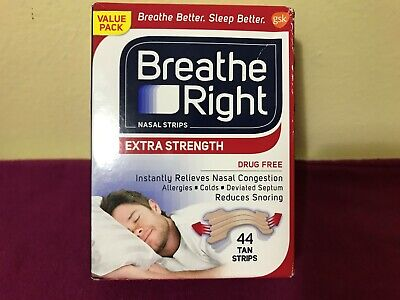 Breathe Right Extra Strength 44 count Tan Nasal Strips, Free Shipping