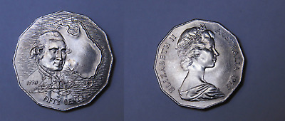 1970 50c Captain Cook Australian Coin - 50 Cent CHOICE UNC FROM ROLL (HJ32)