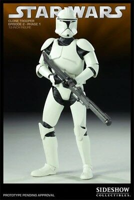 Sideshow Star Wars Republic Clone Trooper Phase 1 Sixth Scale 1/6 Hot Toys NEW