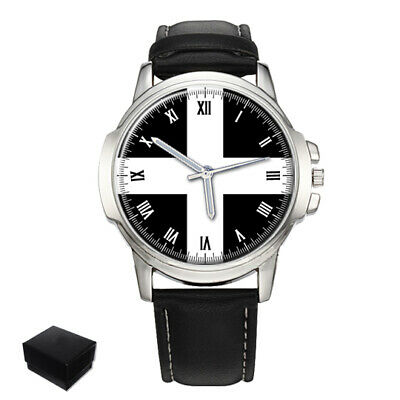 Cornwall County Flag Gents Mens Wrist Watch  Gift Engraving