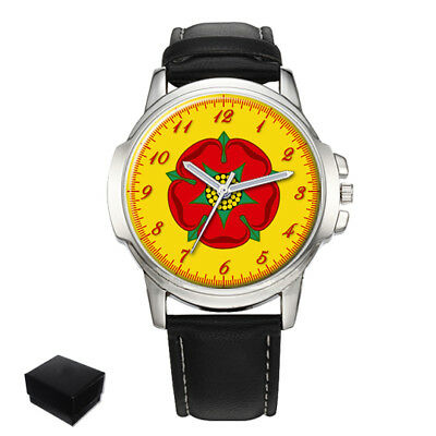 Lancashire County Flag Gents Mens Wrist Watch  Gift Engraving