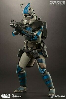 Sideshow Star Wars Fives ARC Clone Trooper 501 st 1/6 Scale USED MINT