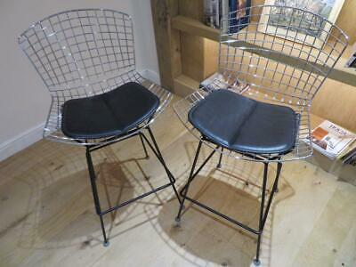 A PAIR of RARE original HARRY BERTOIA for Knoll BAR STOOL CHAIRS from 1970's