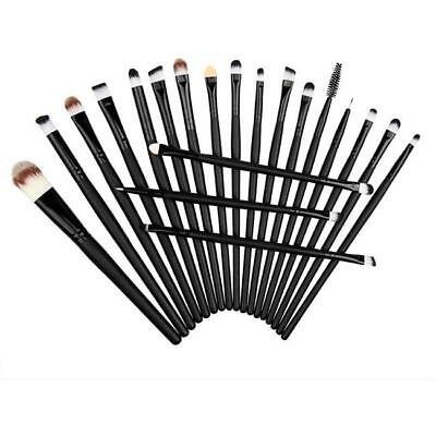20PCs Eye Makeup BRUSHES Kit Set Powder Blusher Eyeshadow Eyeliner Lip Brush FI