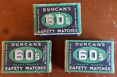 Duncan' 60s. Matchboxes x 3 Used Condition. c1940s Quotations. Empty.