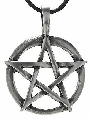 No 109: Pentagram Pendants Pewter Path Pentakel White Magic Energy Ring Guardian