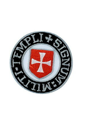 Patch Fusible Coat of Arms Templar Crusader Knights Chevalier