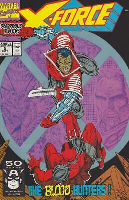 X-Force #2 Deadpool, Cable, Liefeld, Marvel Comics 1991, Fine to VF