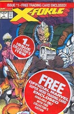 X-Force #1 With Deadpool Card! - Cable, Liefeld, Marvel Comics 1991 series