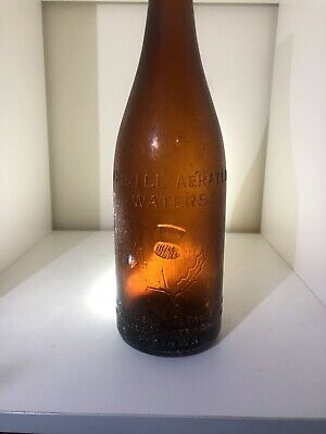 Thistle Aerated Waters Perth Amber Crown Seal Kingly Size 26oz Bottle
