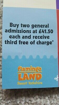 2 x Flamingo land 3 for 2 Vouchers valid till 3/11/2019